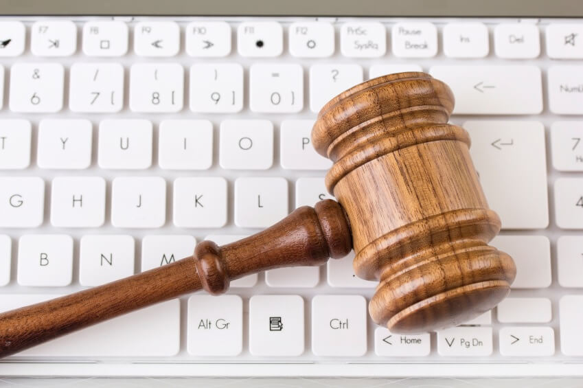 Gavel on keyboard representing the COPPA law