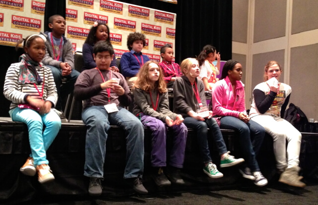 Picture of the kids on the panel at Digital Kids